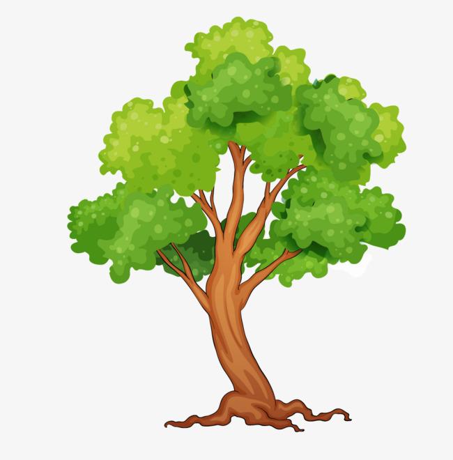 手绘可爱树木素材