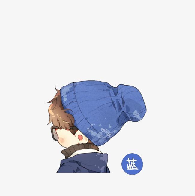 时尚卡通手绘戴帽子动漫男孩