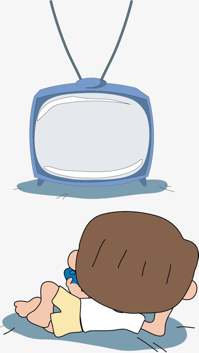 看电视卡通_卡通儿童看电视