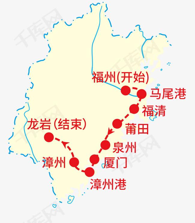 福建地图素材图片免费下载 高清png 千库网 图片编号7490408