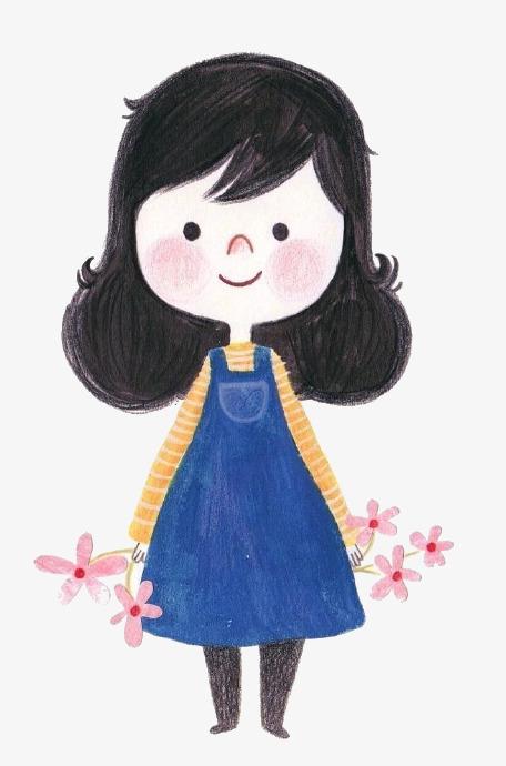 图片 > 【png】 卡通笑脸女孩  分类:手绘动漫 类目:其他 格式:png