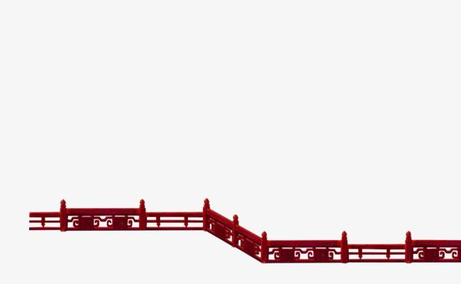 红色中国风栏杆边框纹理