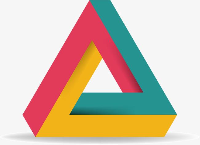 三角折纸信息图表