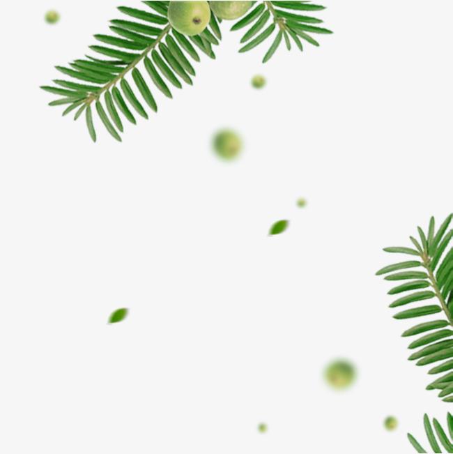绿色树叶叶子飘落装饰图案图片