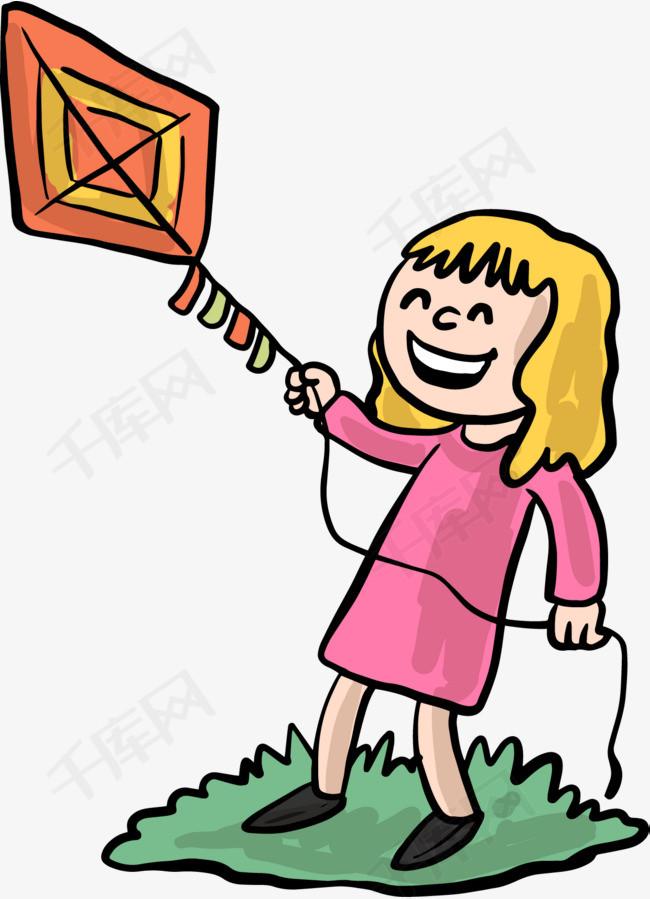 放风筝的女孩