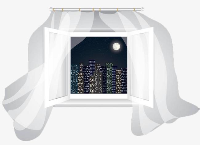 手绘矢量玻璃窗