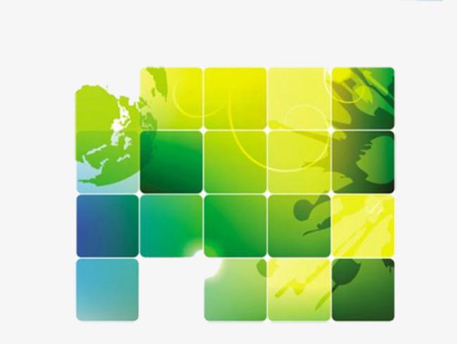 黄绿色光效方块图