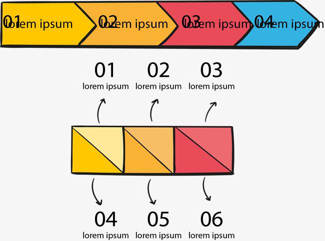 彩色箭头流程图