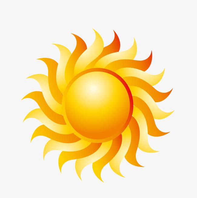矢量向日葵太阳光圈