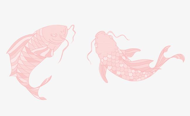 卡通手绘鲤鱼png
