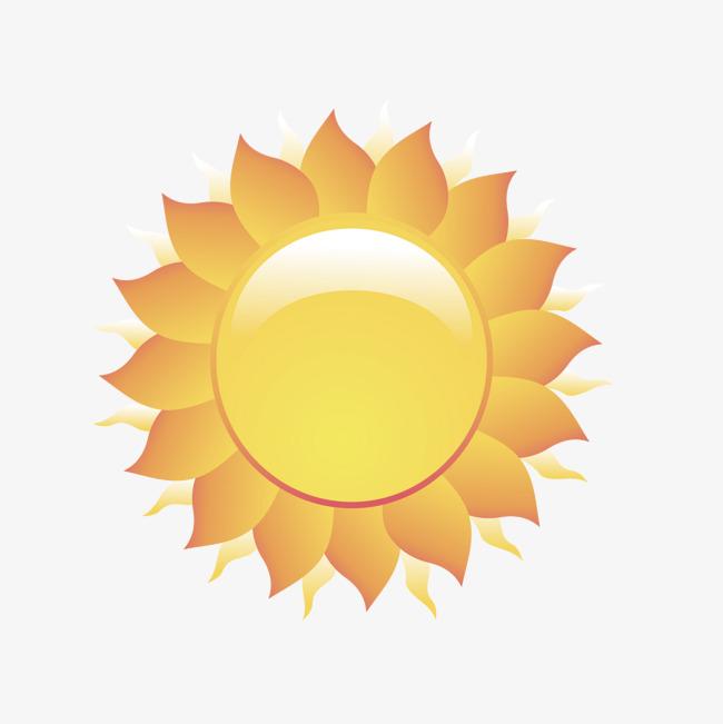 矢量卡通花边太阳光圈