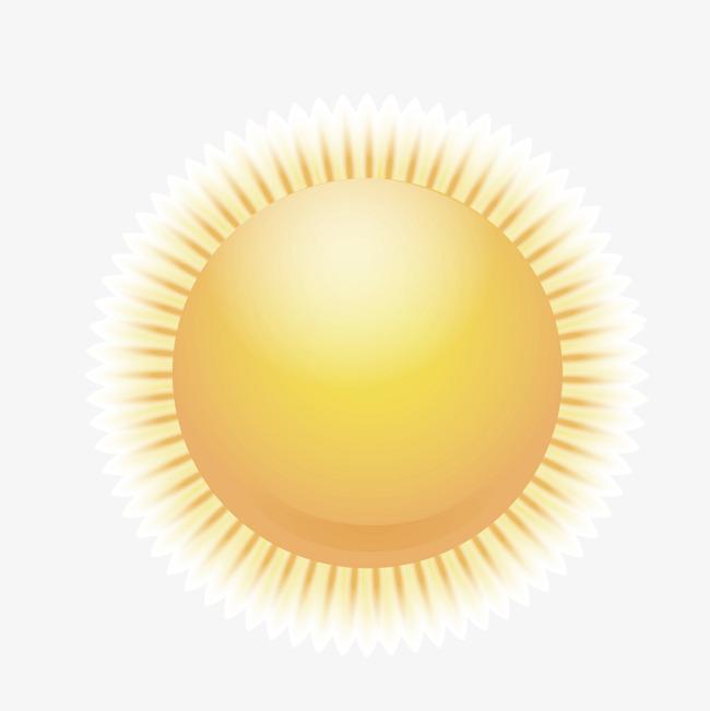 矢量卡通黄色太阳光晕