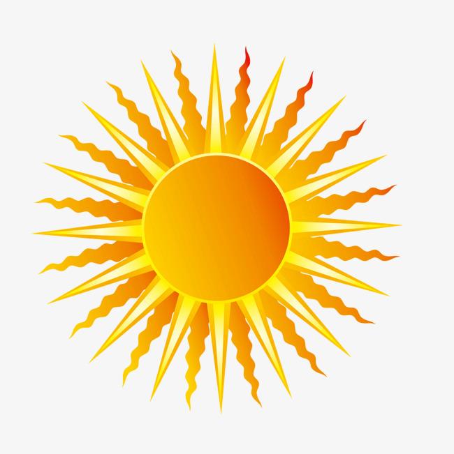矢量卡通灿烂太阳光芒