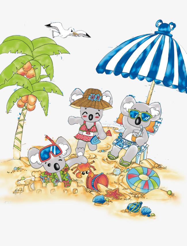 考拉一家人海边度假.png