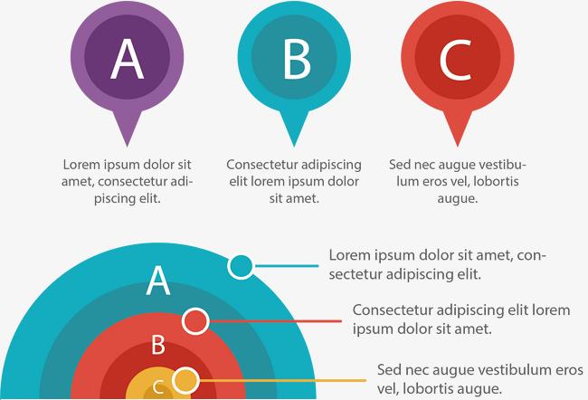 半圆形分类信息图表