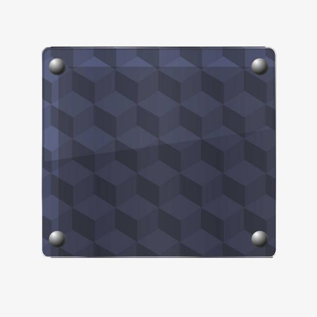 蓝色几何玻璃板