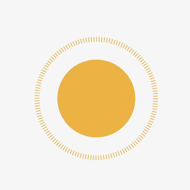 矢量黄色圆形太阳光圈