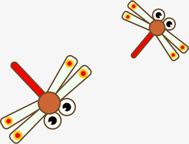 矢量卡通蜻蜓
