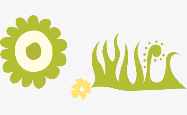 手绘太阳植物