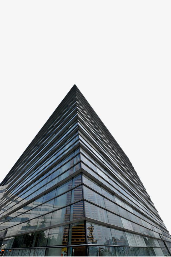 蓝色玻璃建筑