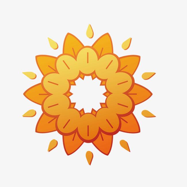 矢量卡通花朵太阳光圈
