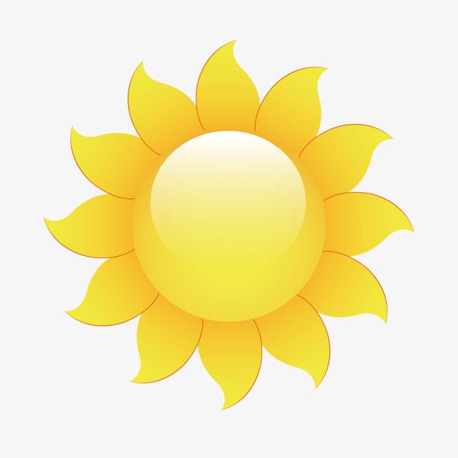 矢量卡通可爱向日葵太阳光圈