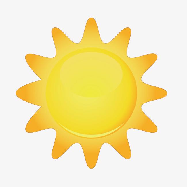 矢量卡通饼干型太阳光圈