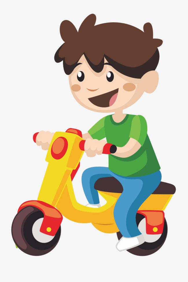 骑车小男孩