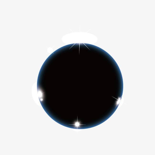 矢量黑色太阳光圈