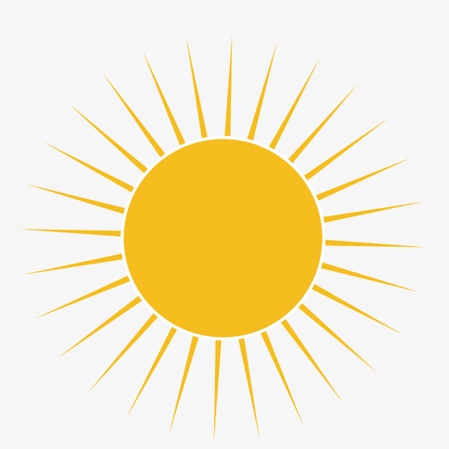 矢量卡通黄色太阳光芒