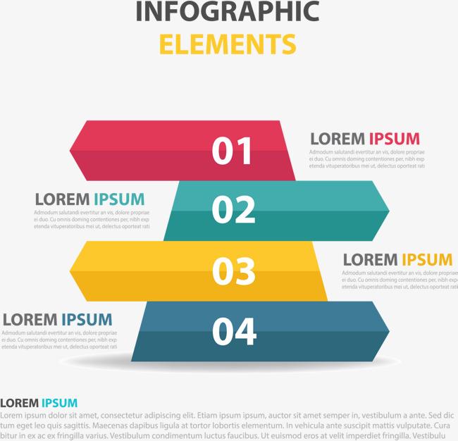 彩色横幅信息图表
