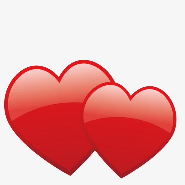红色双心素材图片免费下载_高清装饰图案psd_千库网(图片编号7489778)