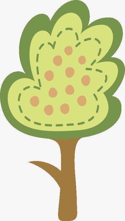 手绘苹果树
