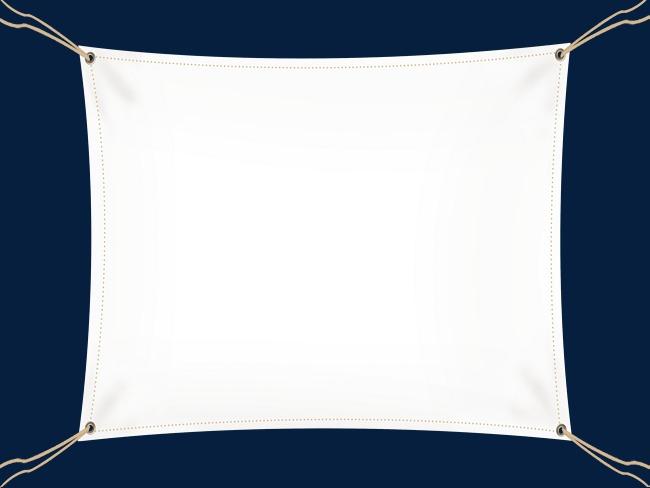手绘白色幕布装饰