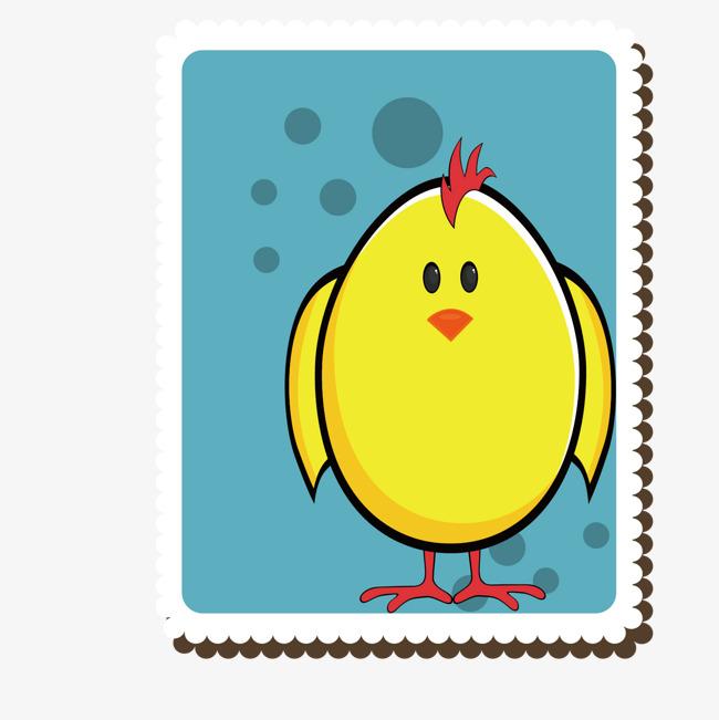 装饰手绘邮票png素材-90设计