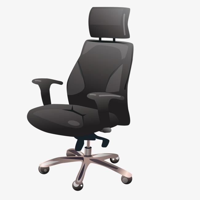 矢量黑色商务椅