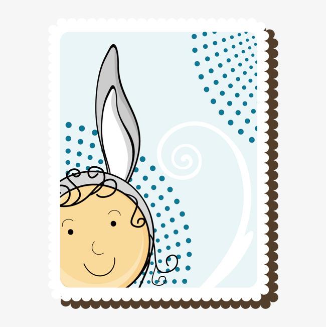 装饰手绘邮票