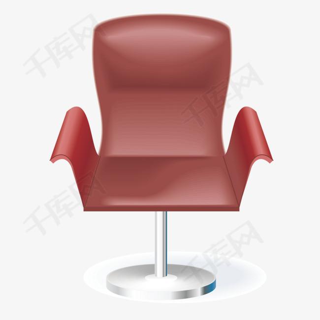 矢量大红椅