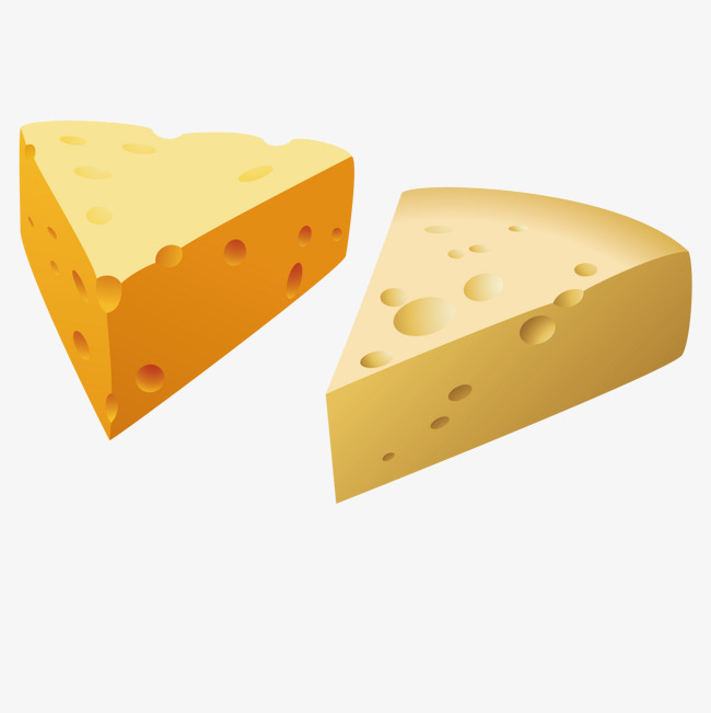 矢量黄色奶酪
