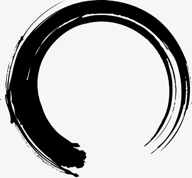 黑色圆形墨迹3g壁纸站