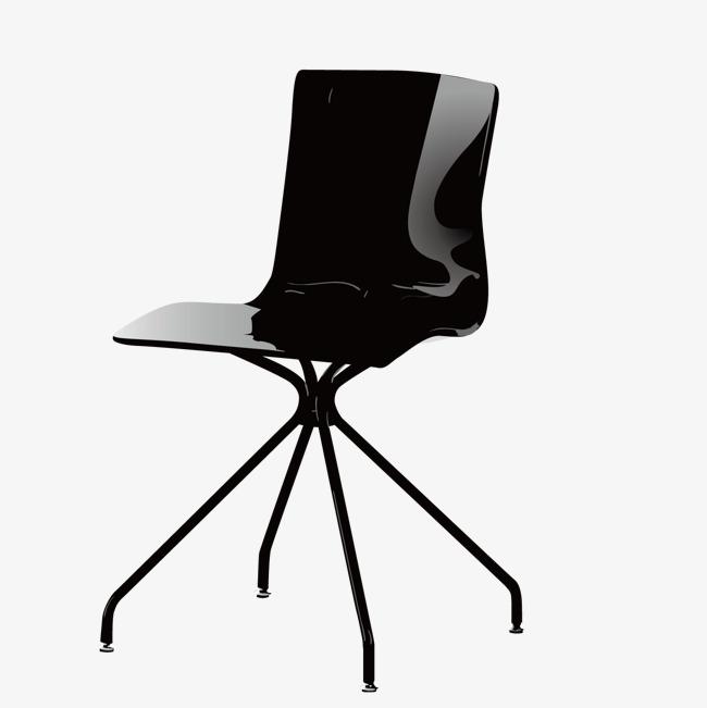 矢量黑椅子