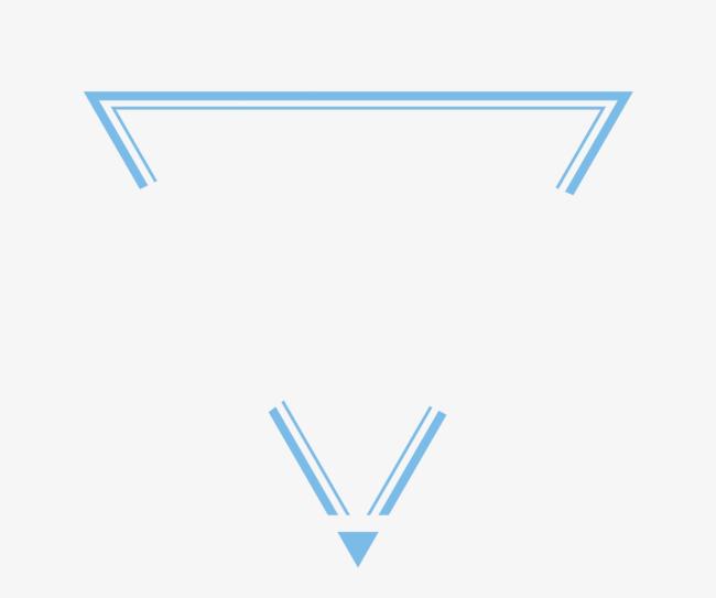 蓝色 倒三角 科技感 图形 炫酷 抽象 创意 光影线 浅色几何 漂浮物