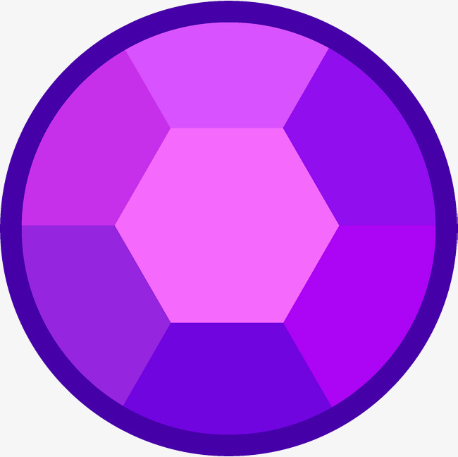 圆形紫钻石卡通png素材-90设计
