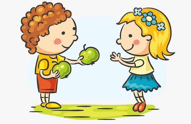 Toy Food Clip Art : 吃水果的小朋友矢量素材图片免费下载 高清卡通手绘psd 千库网 图片编号
