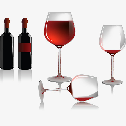 红酒与红酒杯图片png素材-90设计图片