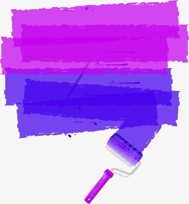 紫色清新涂料边框纹理图片