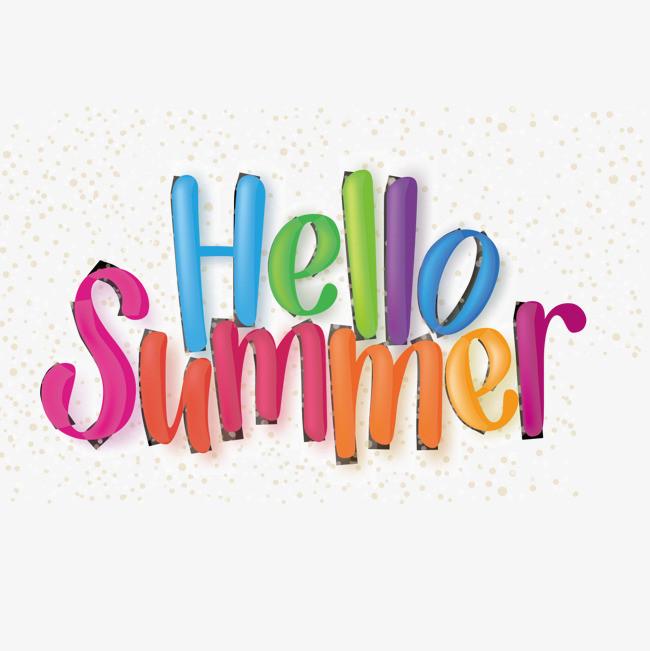 本次summer 夏天hello  字体 装饰字体  矢量图作品为设计师轻抚猫贝图片