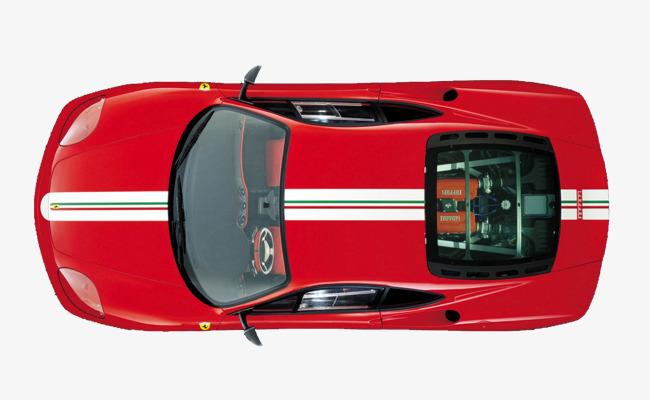 红色车俯视图素材图片免费下载 高清卡通手绘png 千库网 图片编号