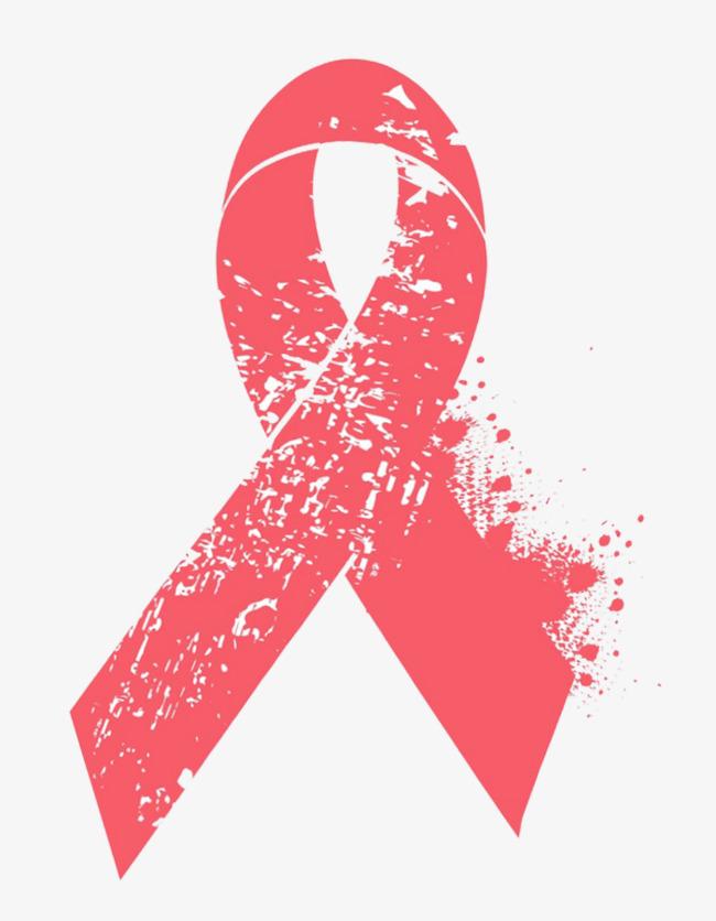 红色世界艾滋病日图形红丝带手绘艾滋病医学关爱世界艾滋病日-红色图片