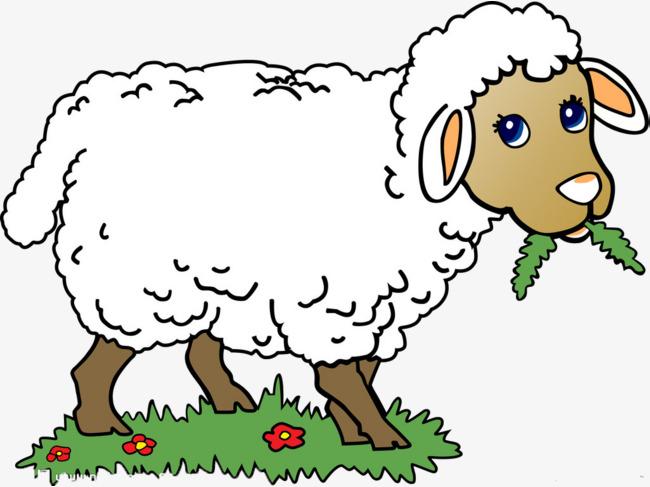 小羊   草地    可爱   装饰             此素材是90设计网官方设计图片